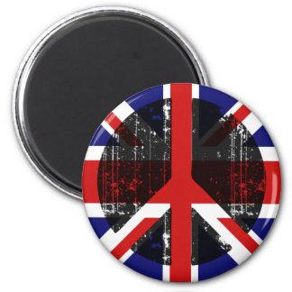 Peace In United Kingdom Fridge Magnets