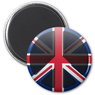 Peace in United Kingdom Refrigerator Magnets