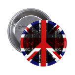Peace In United Kingdom Pinback Buttons