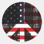 Peace In Usa Sticker