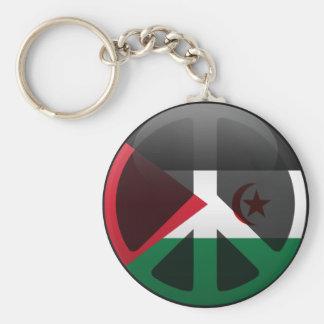 Peace in Western Sahara Keychains