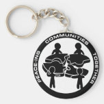 Peace-ing Communities Together Key Chain