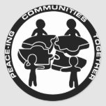 Peace-ing Communities Together Round Sticker