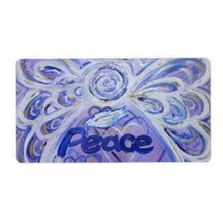 Peace Inspirational Angel Word Labels