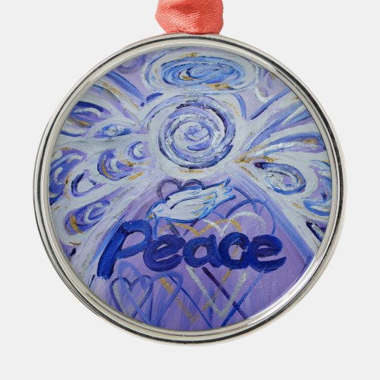 Peace Inspirational Angel Word Ornament
