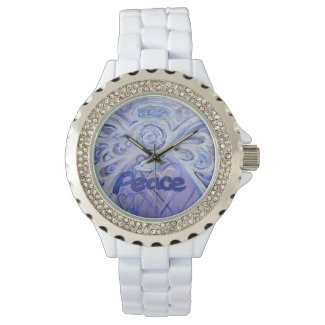 Peace Inspirational Guardian Angel Wrist Watch