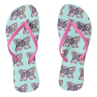 Peace Inspirational Pink Butterfly Sandals
