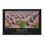Peace: Inspirational Quote 2 Canvas Print
