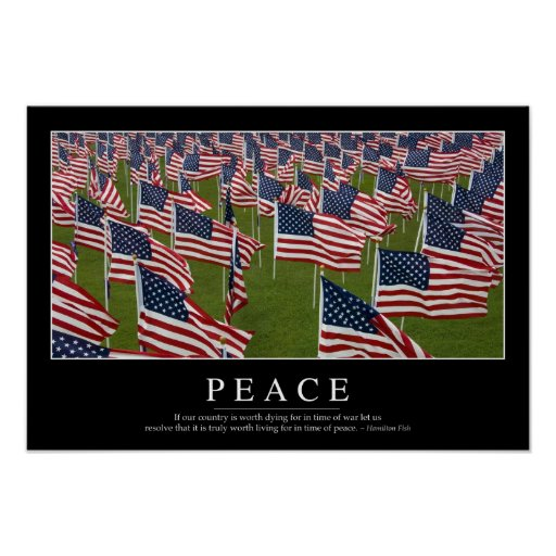 Peace: Inspirational Quote 2 Poster