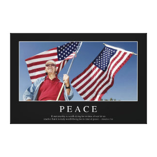 Peace: Inspirational Quote 3 Canvas Print