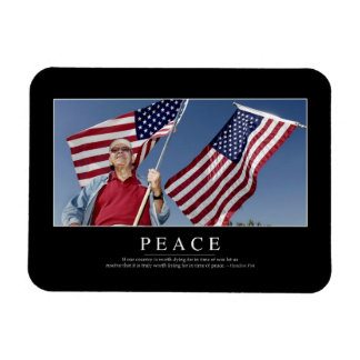Peace: Inspirational Quote 3 Magnet