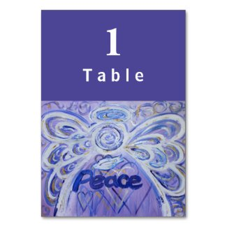 Peace Inspirational Word Angel Custom Table Cards