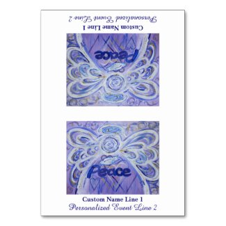 Peace Inspirational Word Angel Table Tent Card
