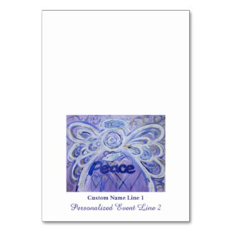 Peace Inspirational Word Angel Table Tent Cards