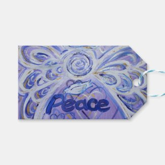 Peace Inspirational Word Custom Card Gift Tags