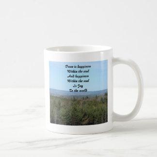 Peace is happiness mugs
