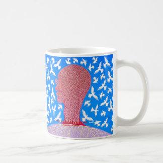 PEACE IS ITS OWN REWARD Mahatma Gandhi by Metin Coffee Mugs