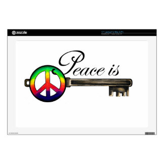 Peace is Key Decal For Laptop