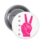 peace is love pinback button