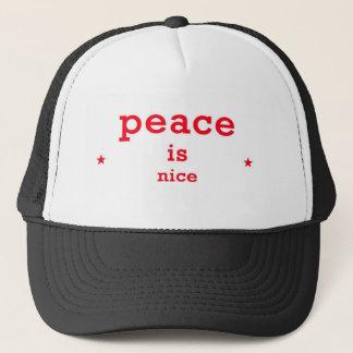 Peace is nice trucker hat