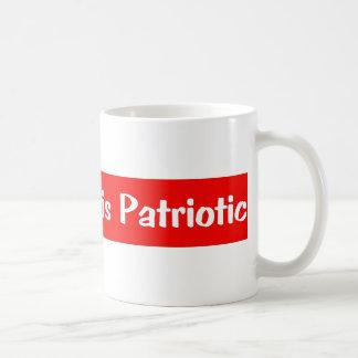 PEACE IS PATRIOTIC COFFEE MUG