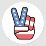 Peace is Patriotic Stickers