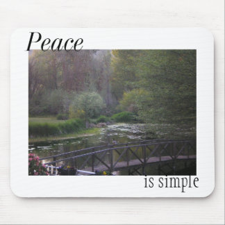 Peace is Simple Meadow Mouse Pad