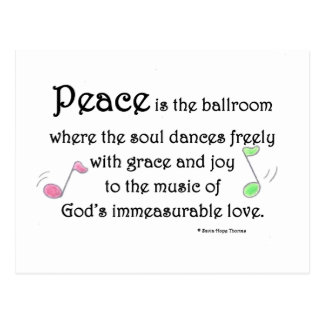 peace is the ballroom postcard