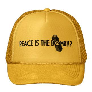 peace is the bomb trucker hat
