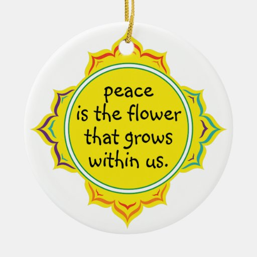 Peace is the Flower Christmas Tree Ornament