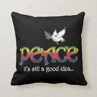 Peace: It's Still A Good Idea - Dove and Rainbow Throw Pillow