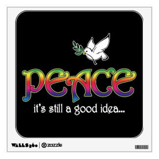 Peace: It's Still A Good Idea - Dove and Rainbow Wall Sticker