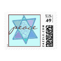 Peace Jewish Star Postage