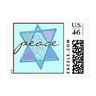 Peace Jewish Star Postage Stamps