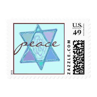Peace Jewish Star Postage Stamps