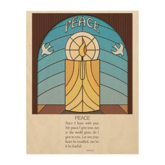 Peace - John 14:27 Wood Wall Art