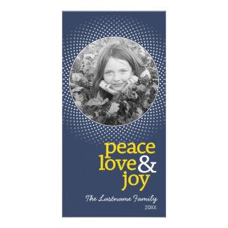 Peace Jove Joy Holiday Photo Card