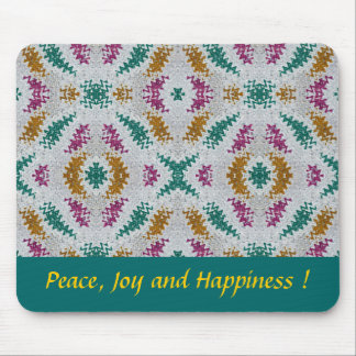 Peace, Joy and Happiness Mouse Pad