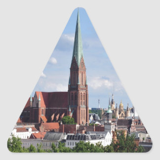 Peace joy and love schwerin triangle sticker