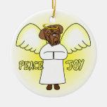 Peace Joy Angel Dogue de Bordeaux Christmas Christmas Tree Ornament