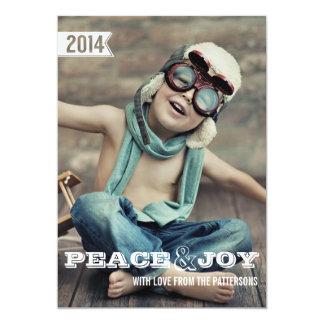 Peace & Joy Big Bold Christmas Holiday Photo Card