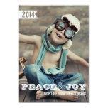 Peace & Joy Big Bold Christmas Holiday Photo Card Invite