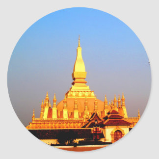 Peace joy golden pagada wat pha-that luang vientia stickers