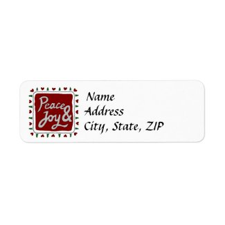 Peace & Joy Hand Lettering Holiday Labels