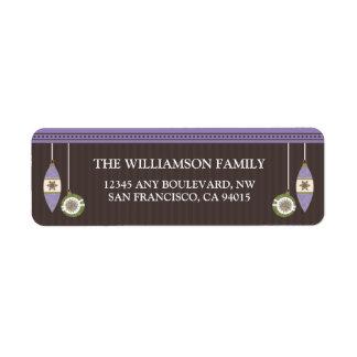 Peace Joy & Happiness Return Address (lavender) Label