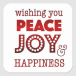 """Peace, joy & happiness stickers for holiday card<br><div class=""""desc"""">These stickers coordinate with one of our holiday cards.</div>"""