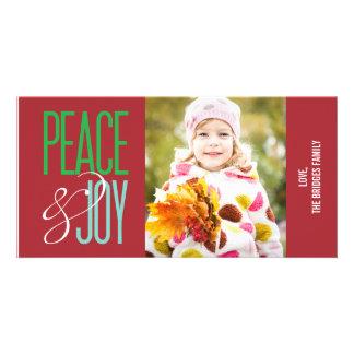 Peace & Joy Holiday Photo Card