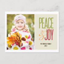 Peace & Joy Holiday Photo Card Postcard