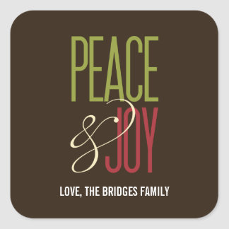 Peace & Joy Holiday Stickers/Envelope Seal