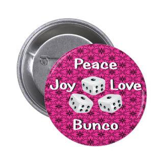 peace,joy,love,bunco button
